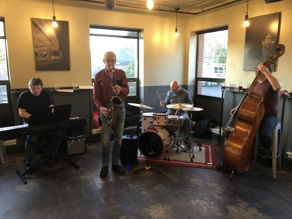 band early  at Trillium Brewery at 10-23-19 by Thia Blake Branson
